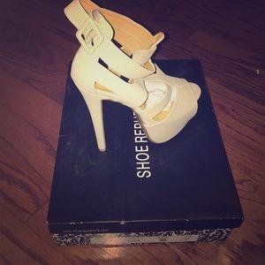 Shoe Republic LA Shoes - Nude platform sandals