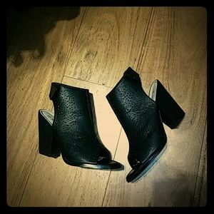 Black open toe bootie New with box
