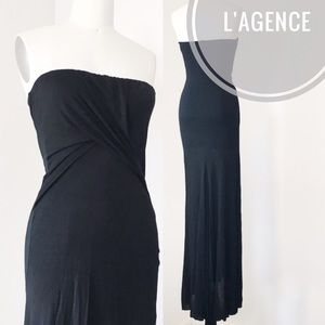 L'agence Black Jersey Gown Size S