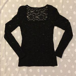 Moda International Tops - Moda international lace long sleeve top