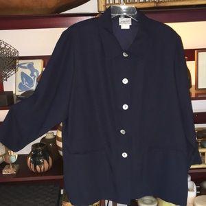 Jaclyn Smith Jackets & Blazers - Blue shirt jacket like new