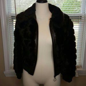 Jackets & Blazers - Dark brown faux fur jacket