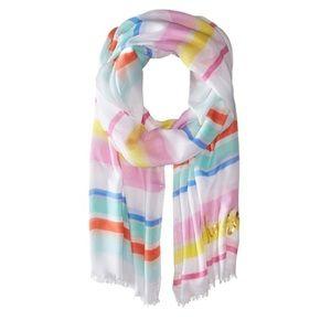 KS cape Stripe oblong scarf candy striped
