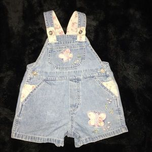 Other - Baby girl shirt overalls
