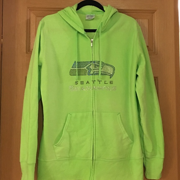 buy online e5feb 148cb Fabulous Lime Green Seahawks hoodie
