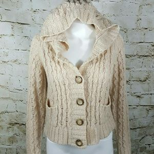 Free People Sweaters - Free People hooded cable knit sweater