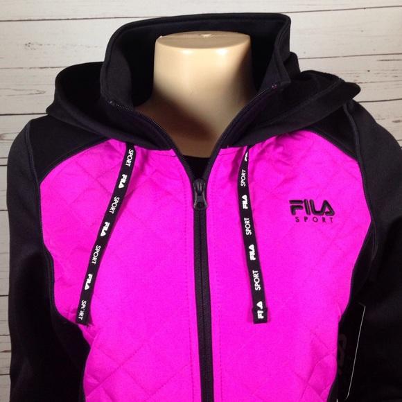 45% off Fila Jackets & Blazers - FILA Sport pink and black jacket ...