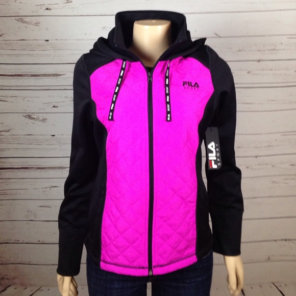 45% off Fila Jackets & Blazers - FILA Sport pink and black jacket ...