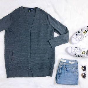 Kersh Sweaters - Kersh Ribbed Open Boyfriend Cardigan Size Small