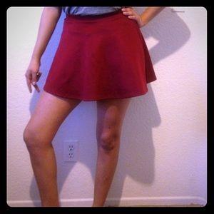 zinga Dresses & Skirts - Burgundy Skater Skirt