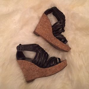 Tory Burch brown wedge sandals