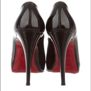 Black Christian Louboutin Shoes Size 39