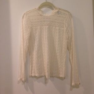 Angelic see through lace long sleeve top