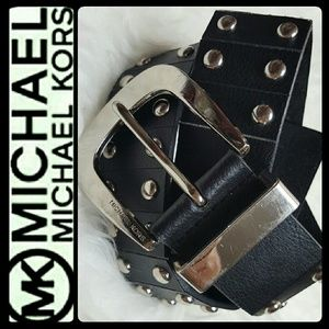 Michael Kors Accessories - Michael Kors Studded Leather Belt