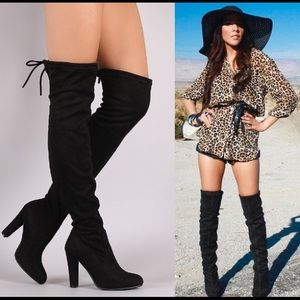 Leoninus Shoes - FITS THIN LEGS Over-the-Knee Boots black