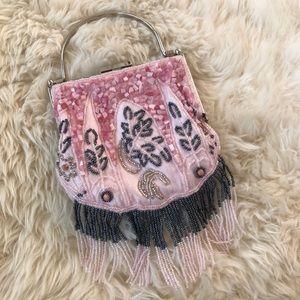 HPVintage Beaded Fringe Handbag