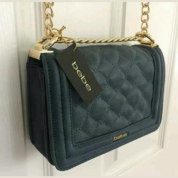 77883df666 bebe Bags   New Authentic Handbag Crossbody Purseblue   Poshmark