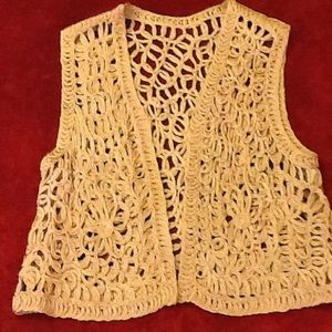 Other - Intricate open-weave vest