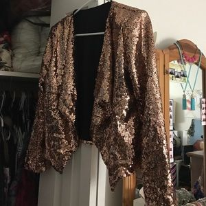*REDUCED*?Rose gold sequin jacket