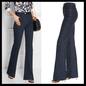 SOLD ❤ dvf // debbie high waist flare jeans NWT