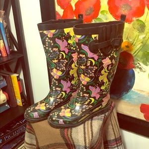 Capelli of New York Shoes - 🌺🌸🌷Vintage Floral Rainboots👢☂️💦💐🌺🌸