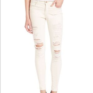 NWT J BRAND distressed mid rise super skinny jeans