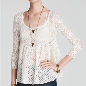 Free People Top - Gracie Lace Babydoll