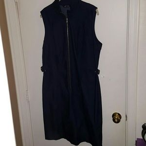 Dresses & Skirts - Women's Dark Blue Denim Dress