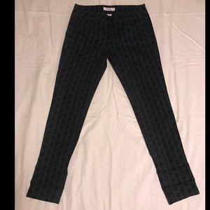 CANDIES Black/Dark Teal Houndstooth Skinny pants