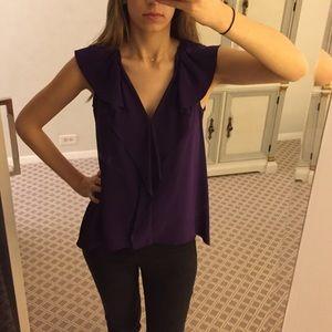 BCBGMaxAzria Tops - Gorgeous BCBG silk ruffle blouse