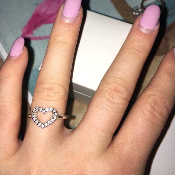 Pandora Jewelry Sterling Silver Be My Valentine Ring Poshmark