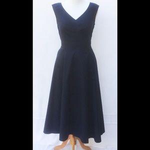 New Eshakti Navy Fit & Flare Midi Dress L 14