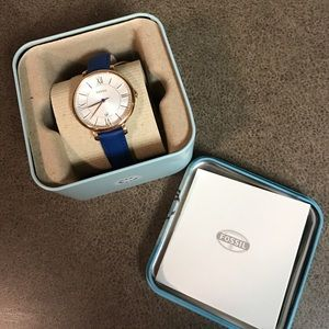 Fossil Accessories - BLUE & ROSE GOLD Fossil Watch