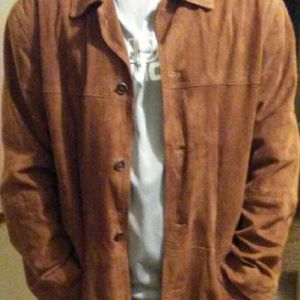 Jos A. Bank brown suede leather means  jacket