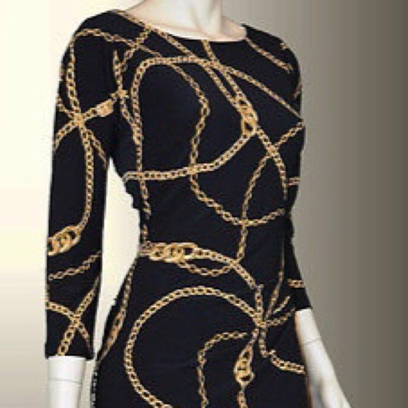42c68235a5e1 Lauren Ralph Lauren Dresses   Skirts - Ralph Lauren Chain Links Black Gold  Sheath Dress