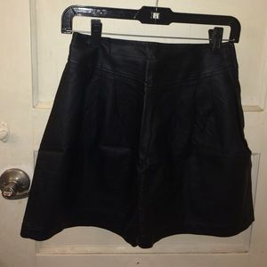 Urban Outfitters Pleather/Leather Skater Skirt