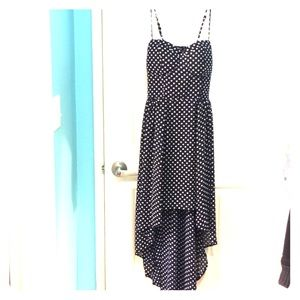 F21 Polk a dot high low dress