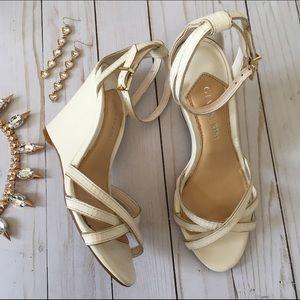 Gianni Bini Shoes - Gianni Bini cream strappy wedge sandals