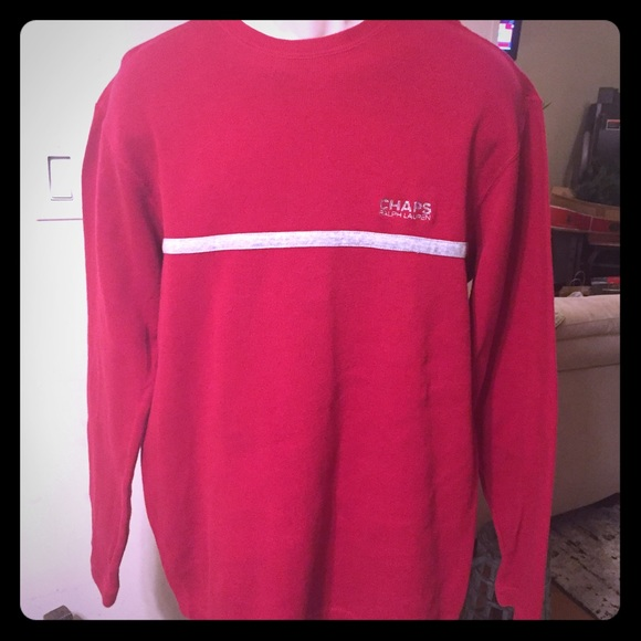 a21a920f4 Ralph Lauren Sweaters | Chaps Lg Red Pullover Top | Poshmark