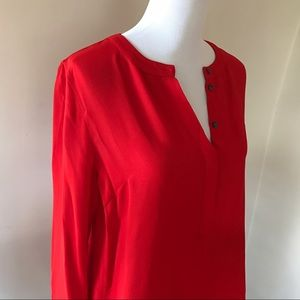 Red J.Crew Blouse