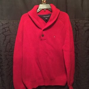 Tommy Hilfiger Sweaters - Red men's Tommy Hilfiger sweater heavy L