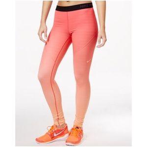 NEW Nike Hyperwarm Peach Ombré Tights Leggings