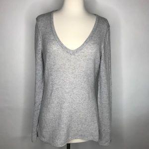 Aqua Sweaters - AQUA Cashmere V Neck Sweater
