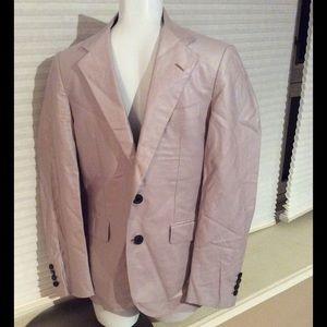Lanvin Other - Lanvin Cotton Linen Suit Blazer Jacket Wood Button