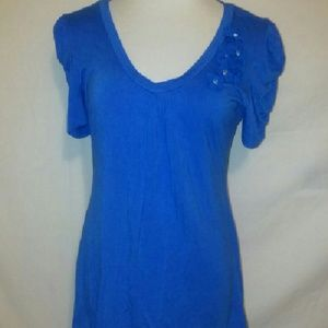 Maurices blue blouse size large
