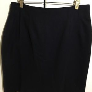 SAVANNAH Navy Blue Wool Skirt