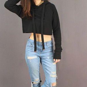 Long sleeve crop sweater