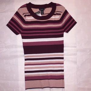 Rue21 Ribbed short sleeve sweater NWT
