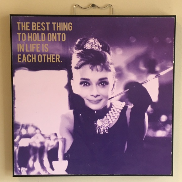 Other | Audrey Hepburn Canvas Wall Art | Poshmark