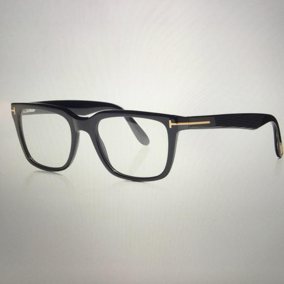 300f52bbf2 Tom Ford Square Optical Frame in Black. M 587da017981829a42f03971d